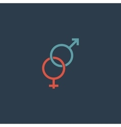 Twisted male and female sex symbol vector