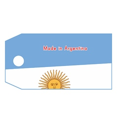 Argentina flag on price tag vector