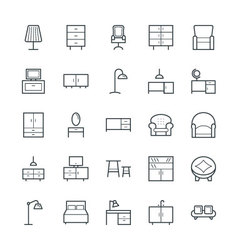 Furniture Cool Icons 1 vector image
