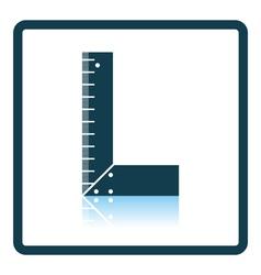 Icon of setsquare vector