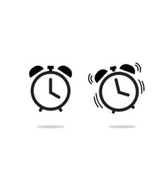Alarm clock icon isolated on white vector image vector image