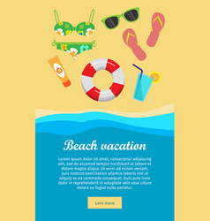 Beach vacation banner vector