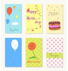 Birthday and holiday invitation greeting cards vector image