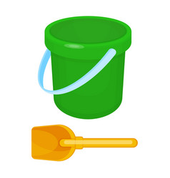 bucket and spade put together on vector image