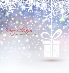 Christmas background with abstract hanging gift vector image