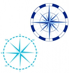 compass roses vector image
