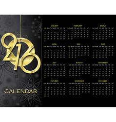 Creative Calendar 2016 design template vector image