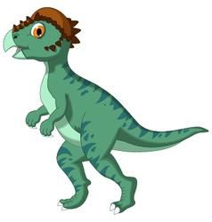 Dinosaur Stegoceras cartoon for you design vector image vector image