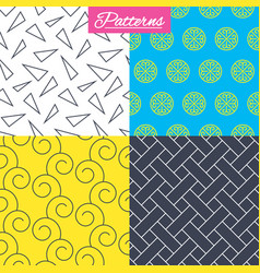 Floral ornament vintage circles textures vector