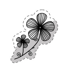 flower decoration image cut line vector image