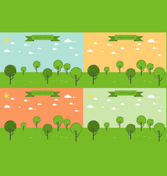 forest trees landscape vector image