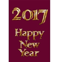 Golden New Year 2017 Greeting Card Magic sparkle vector image vector image