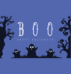 halloween style on blue background vector image vector image