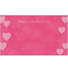 Happy valentine day love balloon background vector