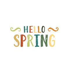 Hello spring inscription vector