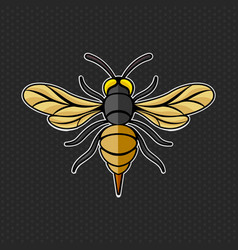 Hornet logo template vector