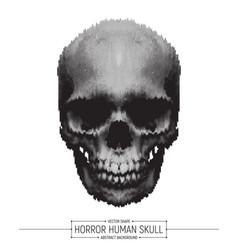 Human horror skull vector