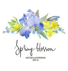 Iris blossom vector