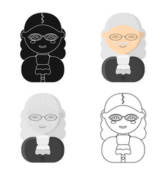 Judge cartoon icon for web and vector