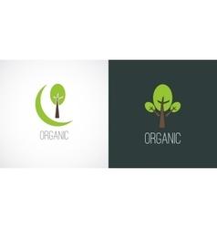 Logo label in flat minimal style vector