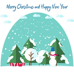 New Years and Christmas cards Fir trees in the vector image vector image