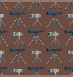 Professional seamless pattern telescope glass look vector