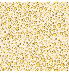 Scattered golden crystals rhinestones vector
