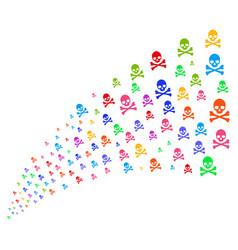 Source stream of death skull vector