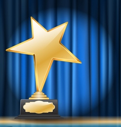 star trophy vector image vector image
