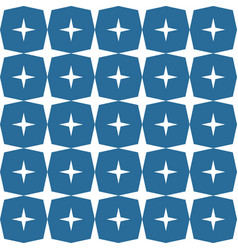 stars shape pattern dark blue background vector image vector image