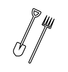 Thin line farming tools icon vector