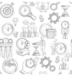 Time Management Seamless vector image vector image