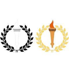 torch n wreath vector image