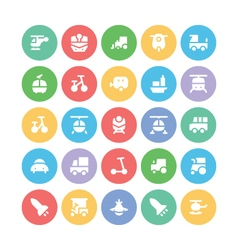 Transport bold icons 2 vector