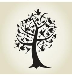 Tree a bird4 vector image