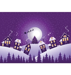 Violet christmas night vector