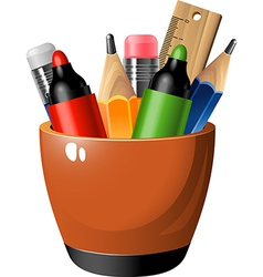 Pen container vector