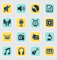 Multimedia icons set collection of mike vector