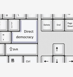 Direct democracy vector