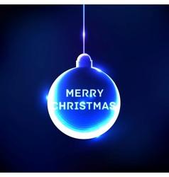 Abstract shine Christmas ball card vector image