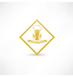 wheat beer icon vector image