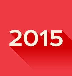 2015 year sign with long shadow vector image