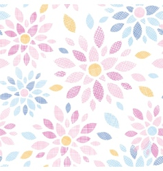 Abstract textile colorful flowers seamless pattern vector