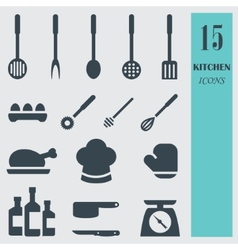Kitchenware set icons vector