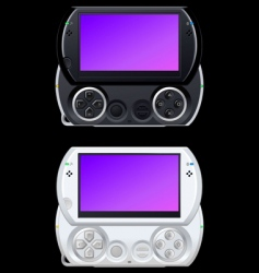 Portable video game console vector