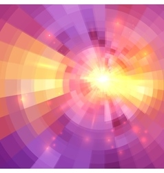 Abstract yellow and pink light circle technology vector
