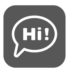 The hi icon greet and hello symbol flat vector