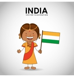 Indian kid vector