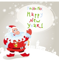 santa claus greeting card 10eps vector image