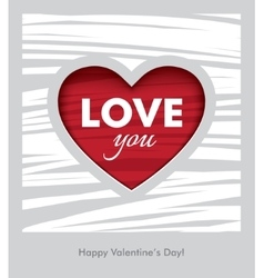 Love you valentines day design vector